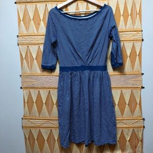 Anthropologie Postage Stamp Dress Striped s small